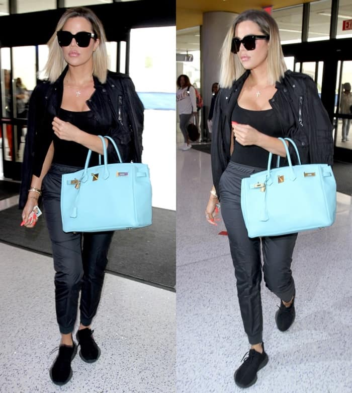 Khloe Kardashian carrying a pretty standout Birkin bag
