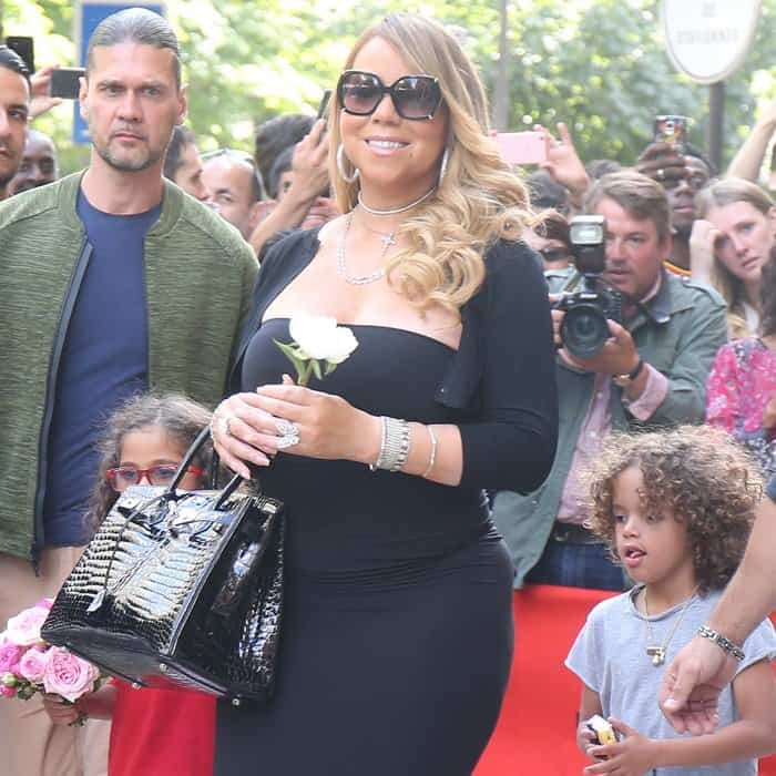 Adorable twins Morrocan and Monroe accompanied mom Mariah Carey on her Paris trip.