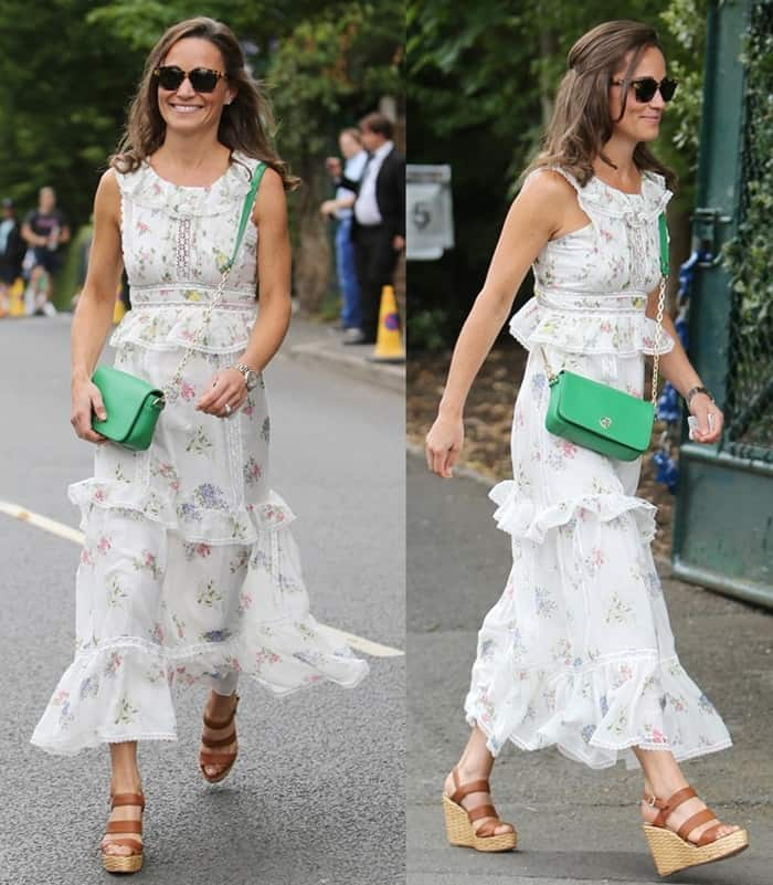 Pippa Middleton spotted looking stylish at the Wimbledon.