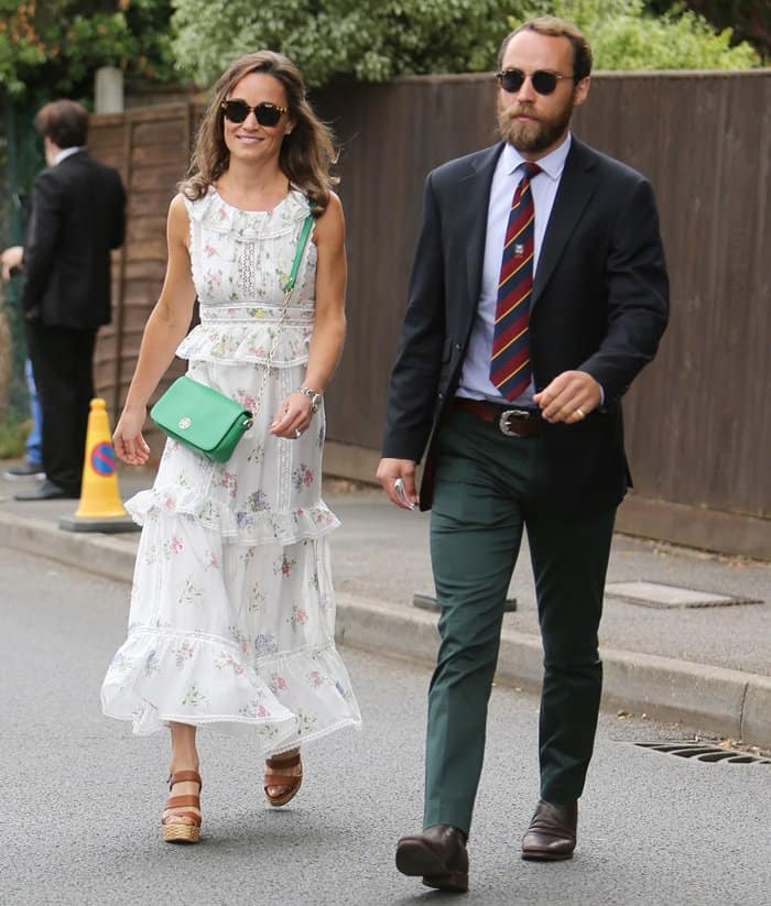 Pippa Middleton with husband James Matthews attending Wimbledon.