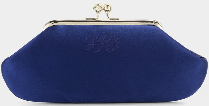 Anya Hindmarch Bespoke Maud Satin in cobalt