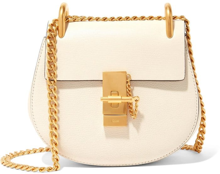 Chloe Drew Mini Textured Leather Bag
