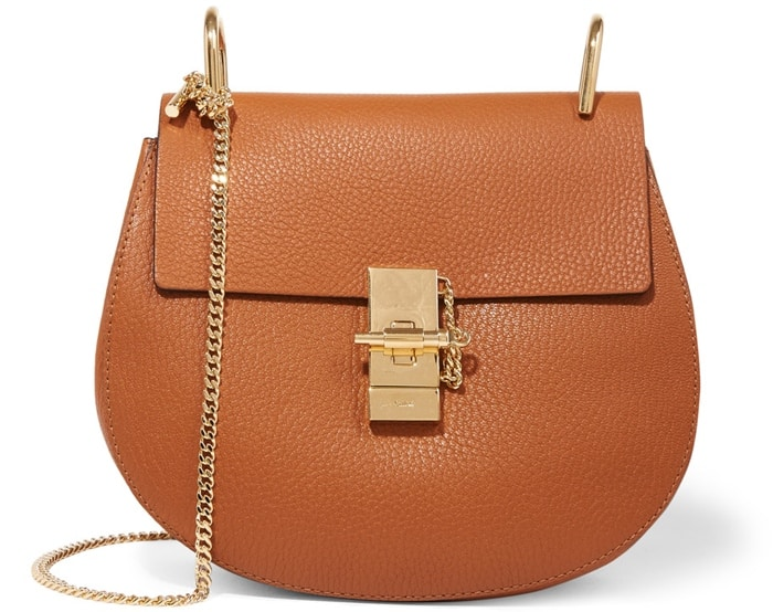 Chloe Drew Small Textured Leather Bag