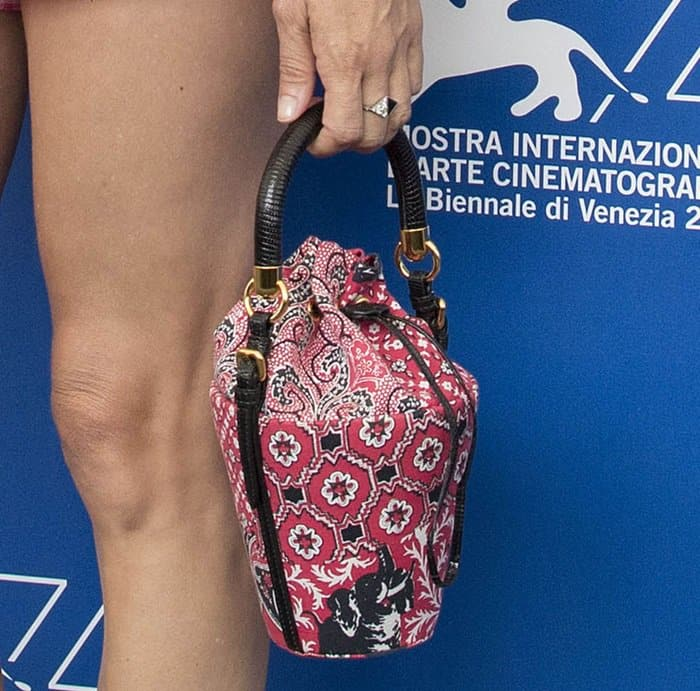 Chloe Sevigny attends the Venice Film Festival in a quirky gingham outfit.