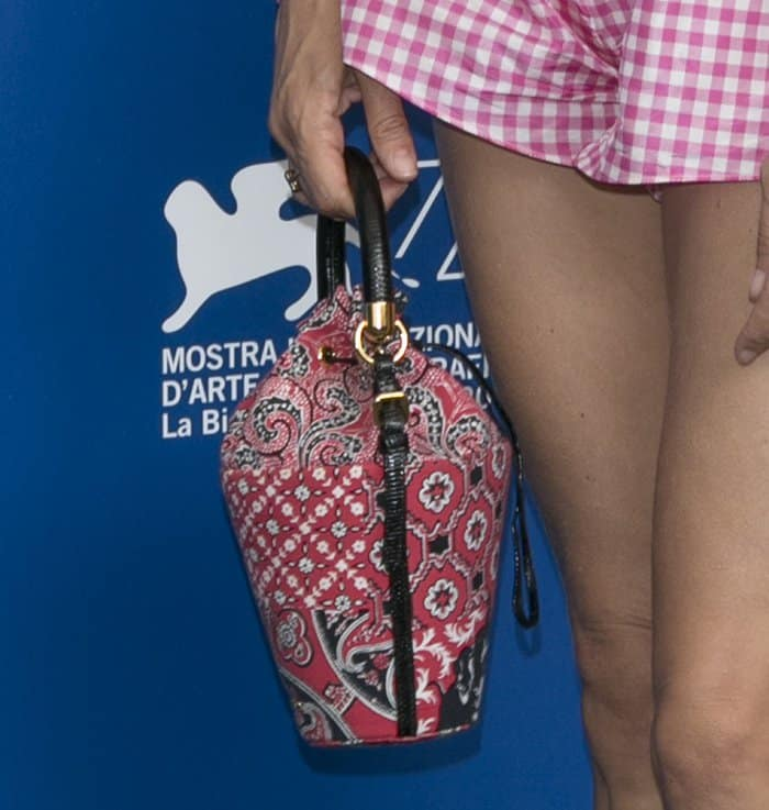 Chloe Sevigny carried a quirky mini bucket bag at the Venice Film Festival.