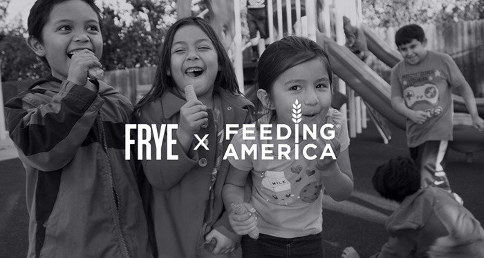 $100 of the limited-edition Frye 'Harvest' tote is donated to Feeding America, a leading hunger-relief charity!