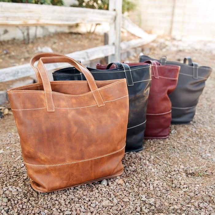 """Frye handbags made from high-quality """"leftover"""" leather"""