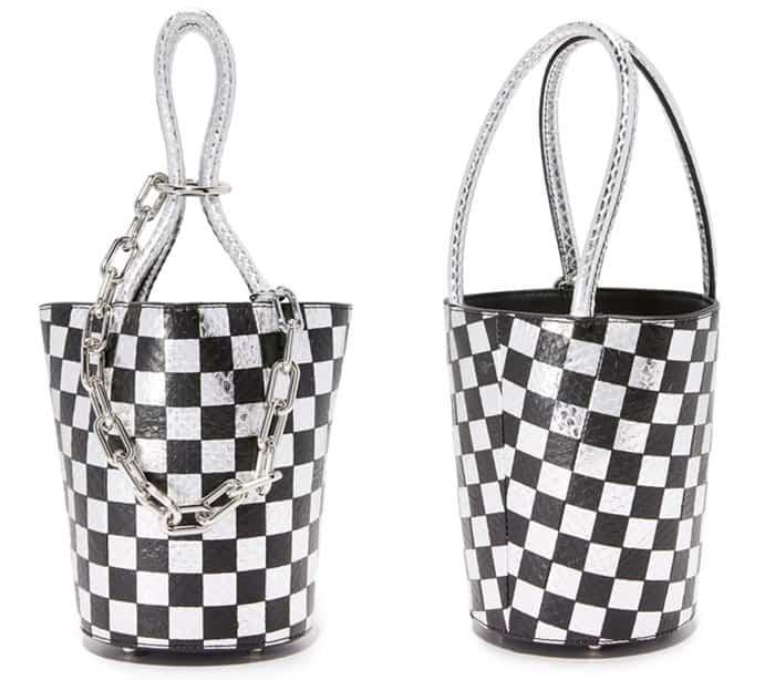 Alexander Wang Checkerboard Roxy Mini Bucket Bag