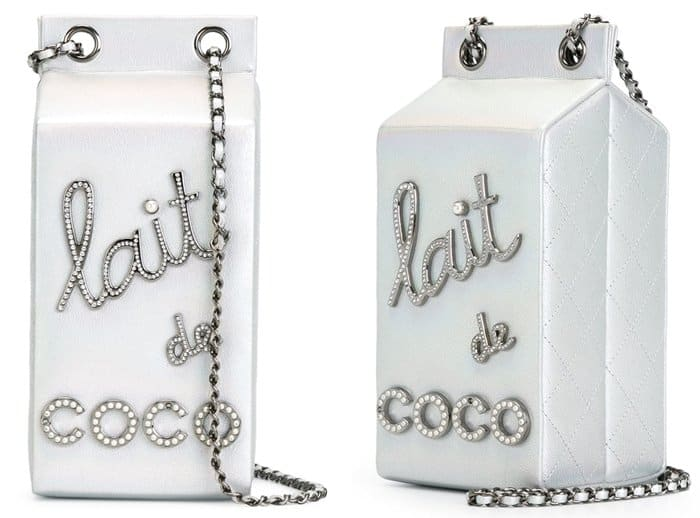 Chanel Vintage 'Lait De Coco' Shoulder Bag