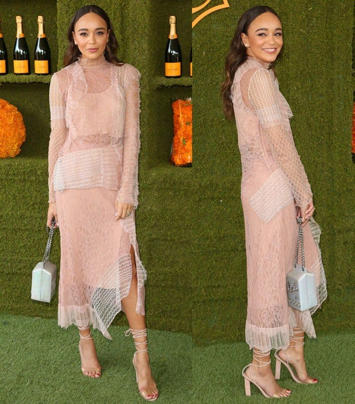 Ashley Madekwe at the 8th Annual Veuve Clicquot Polo Classic at Will Rogers State Historic Park.