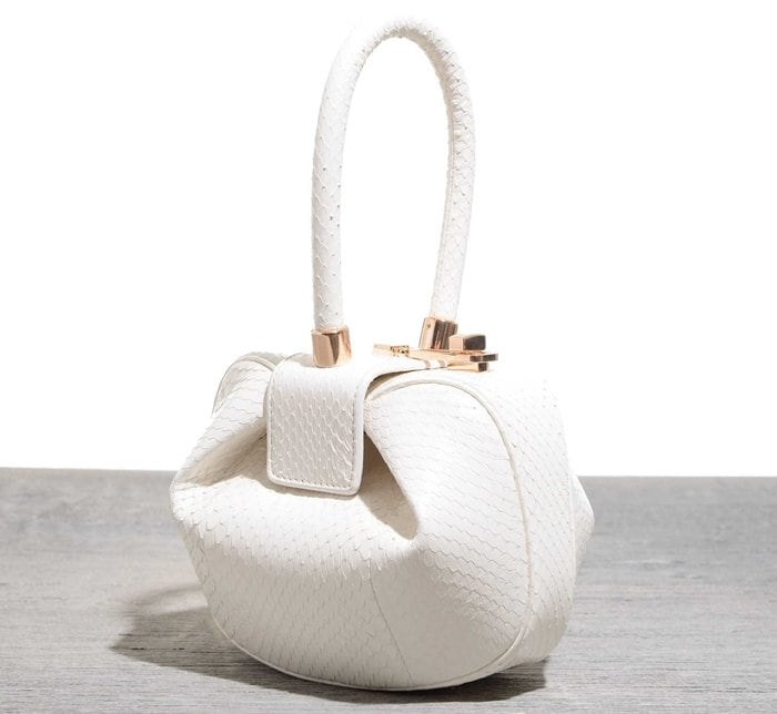 Gabriela Hearst 'Demi' Bag in White Snakeskin