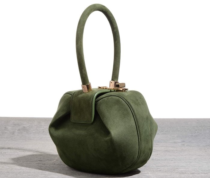 Gabriela Hearst 'Demi' Bag in Green Suede