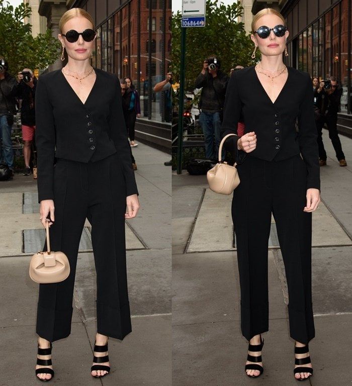 Kate Bosworth spotted outside AOL Build.