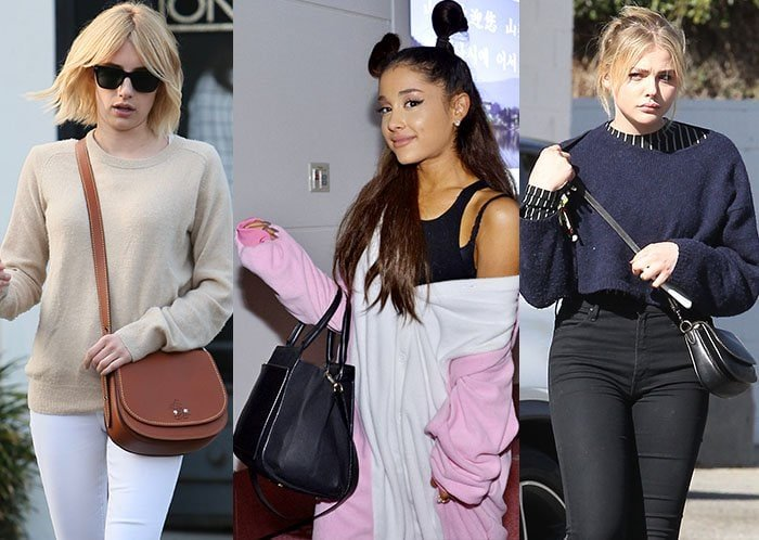 Emma Roberts, Ariana Grande, and Chloe Moretz love their Coach bags