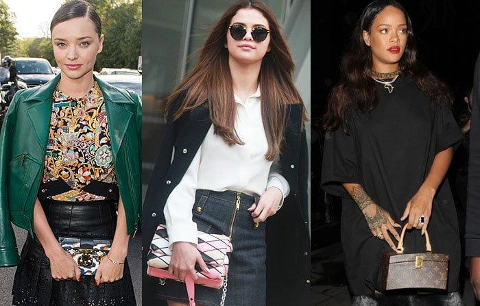 Miranda Kerr, Selena Gomez and Rihanna love their Louis Vuitton purses