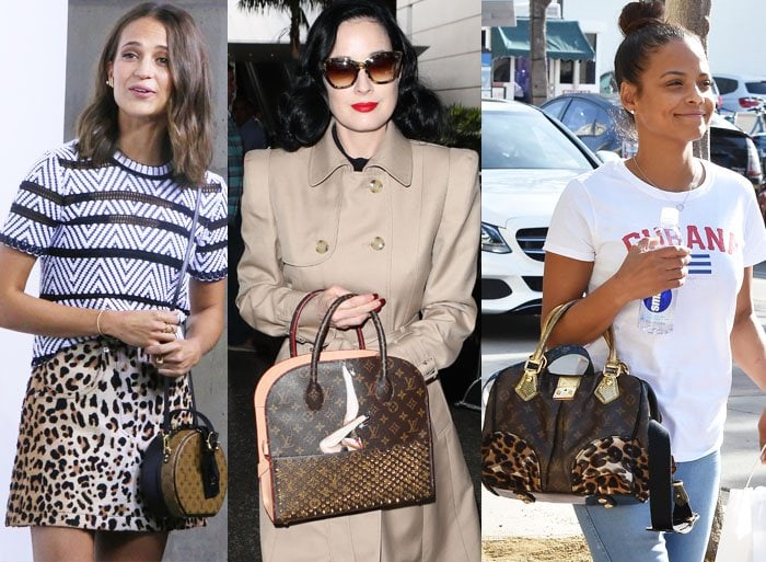 Alicia Vikander, Dita Von Teese and Christina Milian pick out variations of the infamous LV monogram
