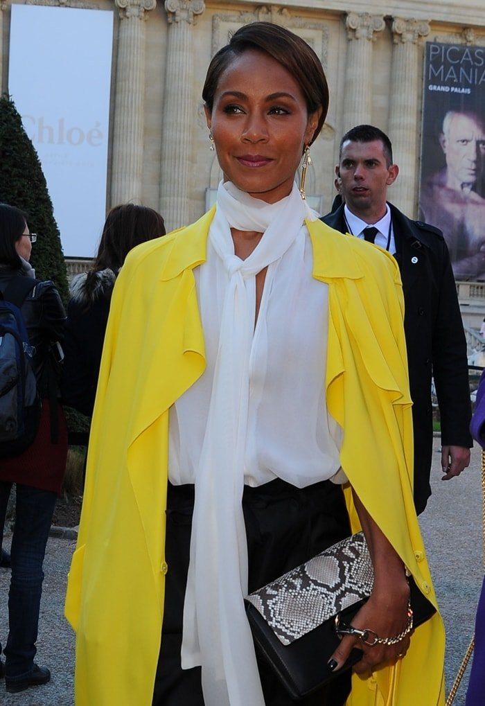 Actress Jada Pinkett Smith attends the Chloe show