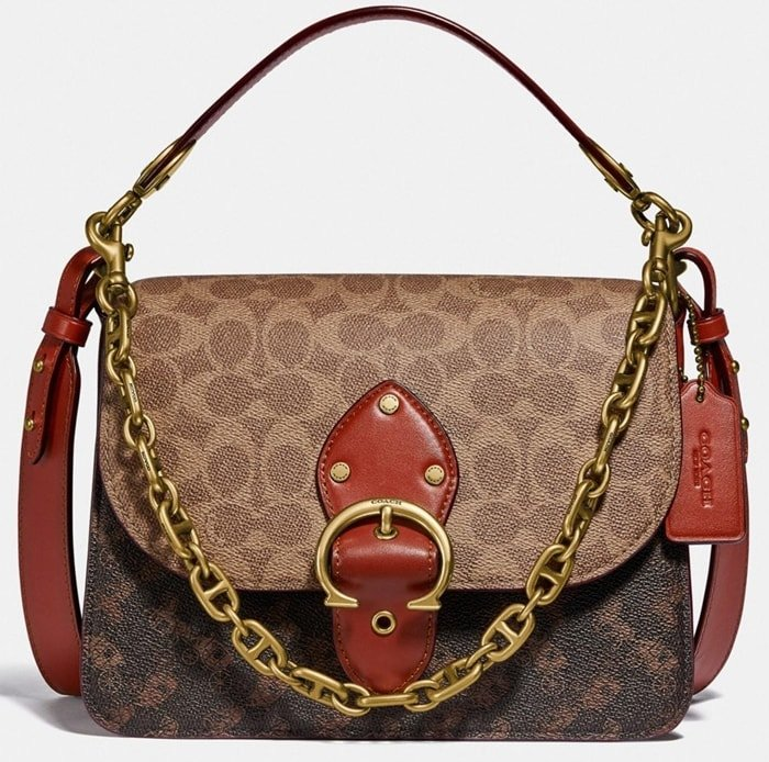 One of Coach's most popular bags and inspired by the heartbeat of New York City, the Beat bag features the brand's iconic Horse and Carriage motif