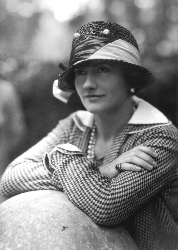 """Gabrielle Bonheur """"Coco"""" Chanel popularized sporty, casual chic as the feminine standard of style"""
