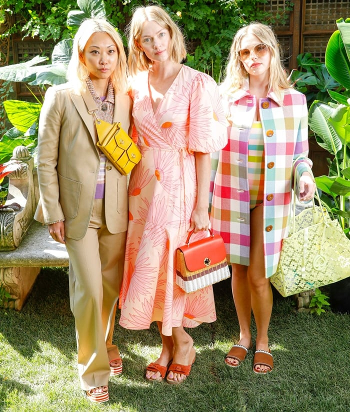 Lindsay Ellingson and guests attend the Kate Spade S/S 20 Fashion Show