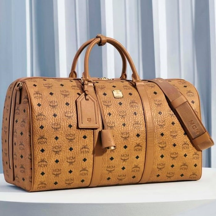 Authentic MCM travel bag made from luxury leather