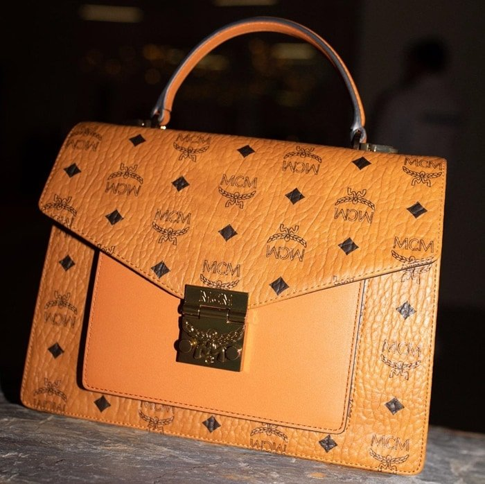 MCM offers luxury luggage and handbags with their famous monogram design