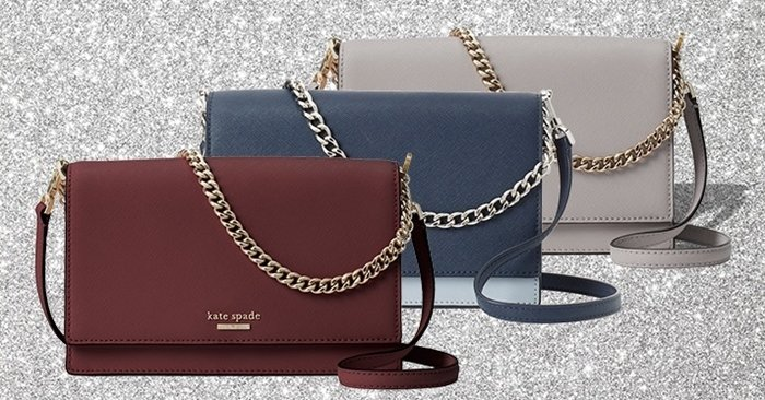 Luxurious hardware on Kate Spade New York's Cameron Convertible crossbody bag