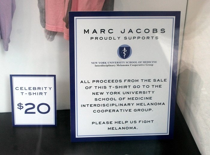 Window display at the Marc Jacobs store in New York City in 2016