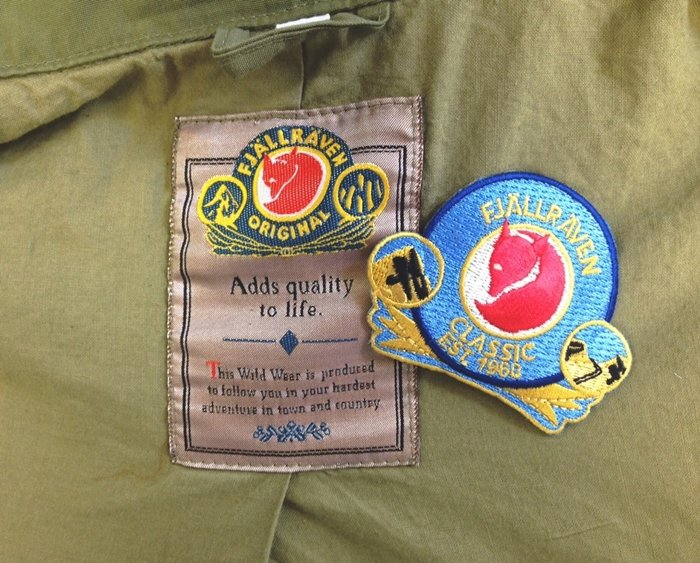 Limited edition Fjällräven Classic patch inspired by the old tag in this vintage 1970s made in Europe Fjällräven jacket
