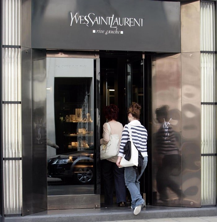 Sharon Osbourne entering the Yves Saint Laurent store on Old Bond Street in London