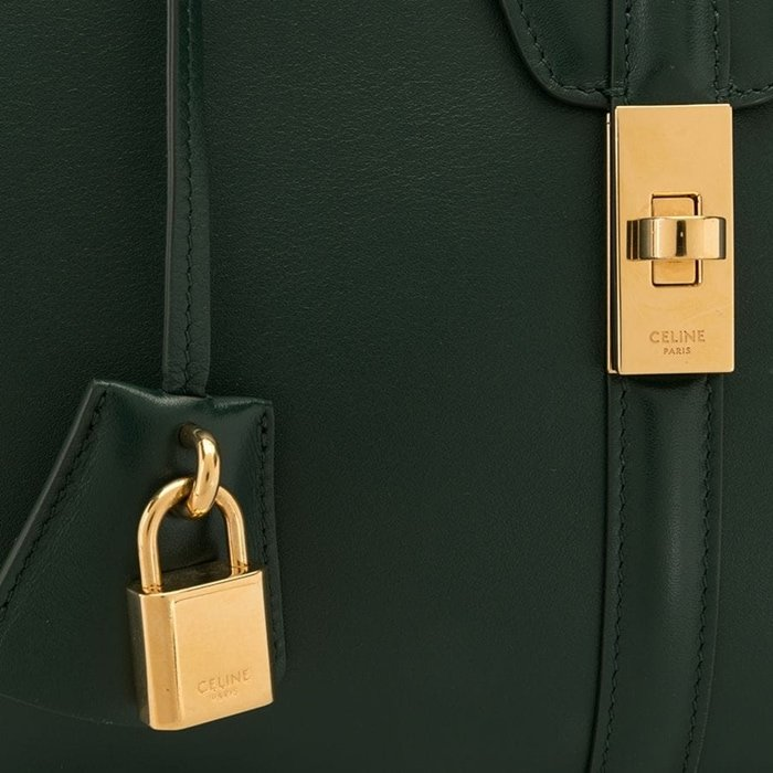 Authentic hardware on Celine bags are always a genuine precious metal