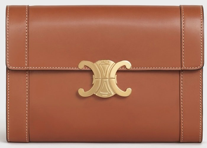 Strap Bag Triomphe in natural calfskin