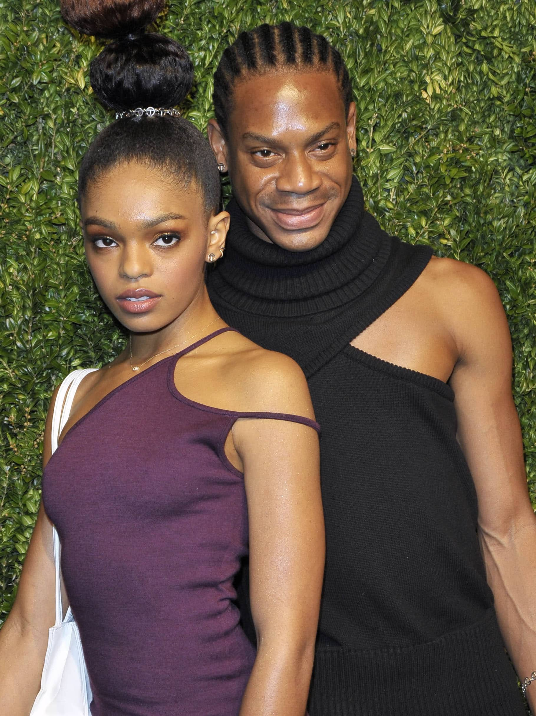 Model Selah Marley with Liberian-American fashion designer Telfar Clemens at the 14th Annual CFDA Fashion Fund Awards in 2017