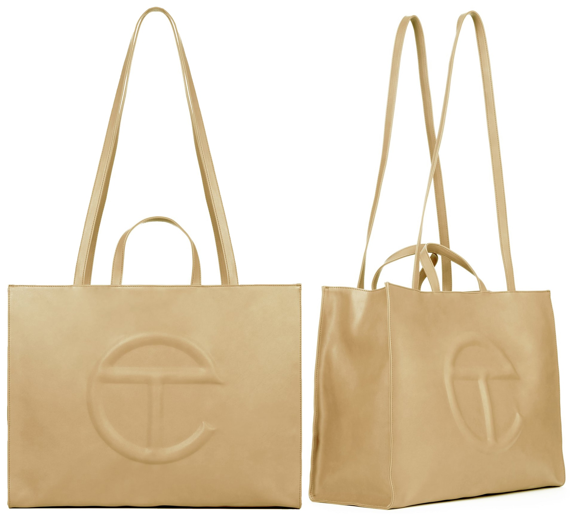 The large cream shopping bag is a classic and it's versatile enough to be paired with just about any other colors