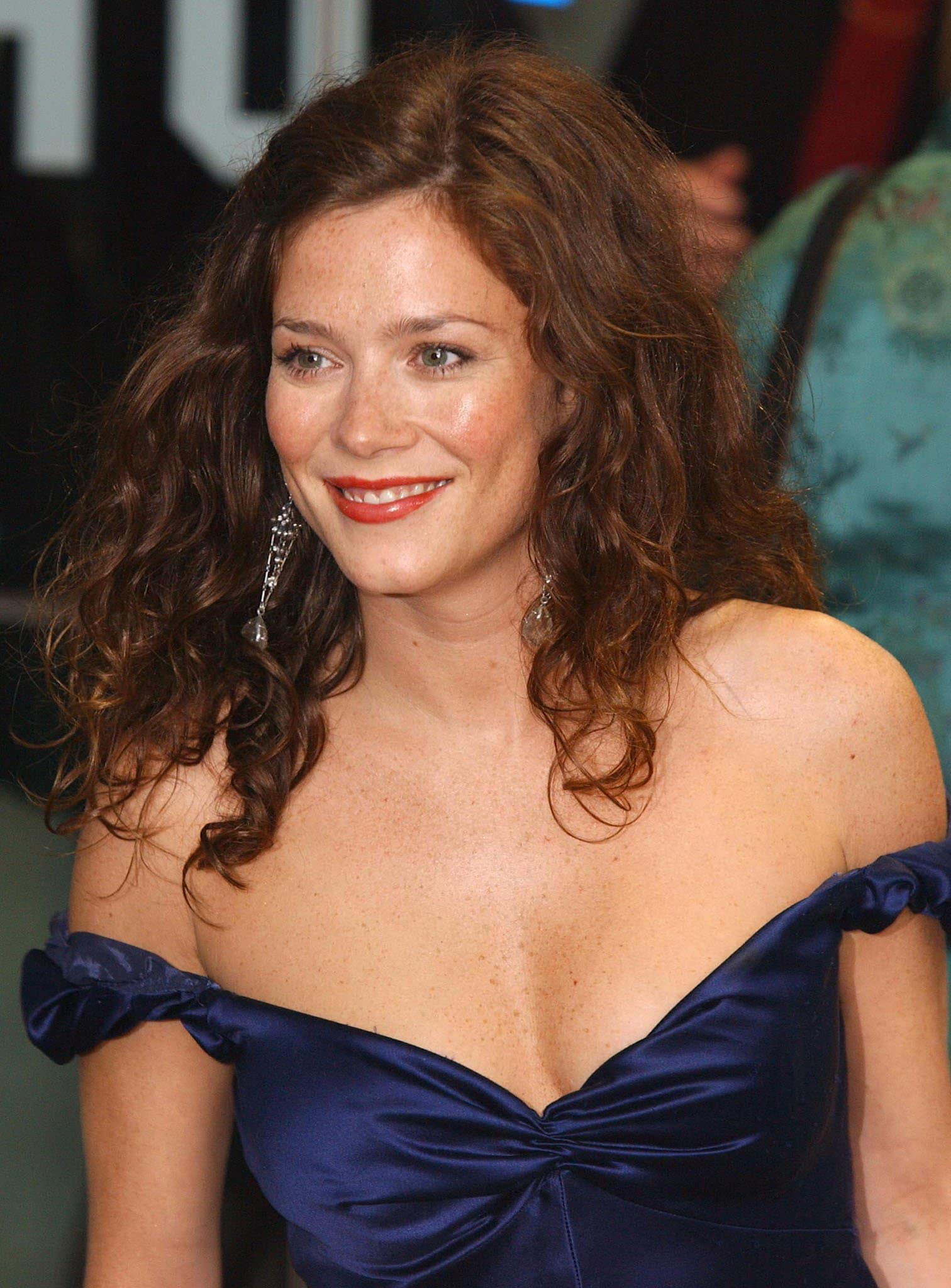 Anna Friel, pictured in 2004, became the face of Mulberry in 2000