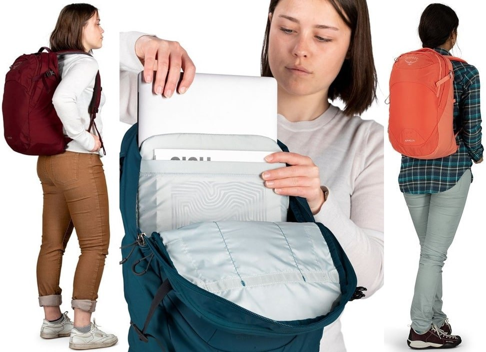 Designed for women, this daypack is streamlined for everyday use it has discreet side pockets