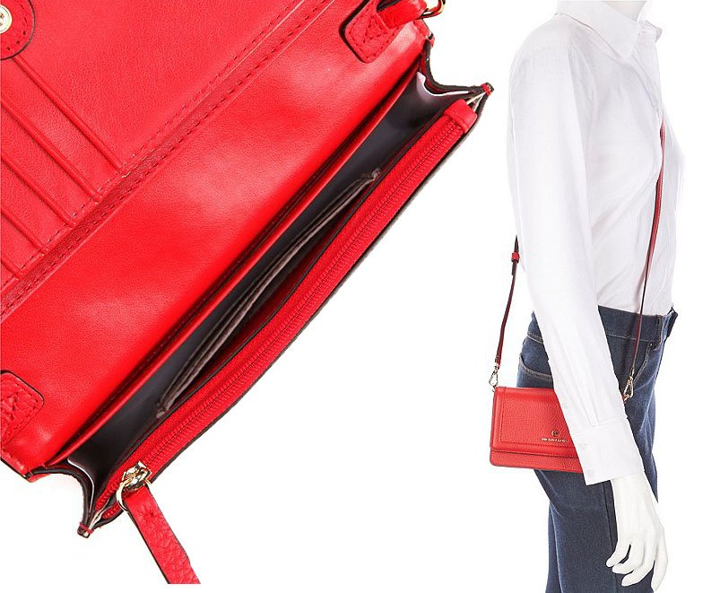 Carry it as a crossbody bag or remove the shoulder strap to transform it into a wallet