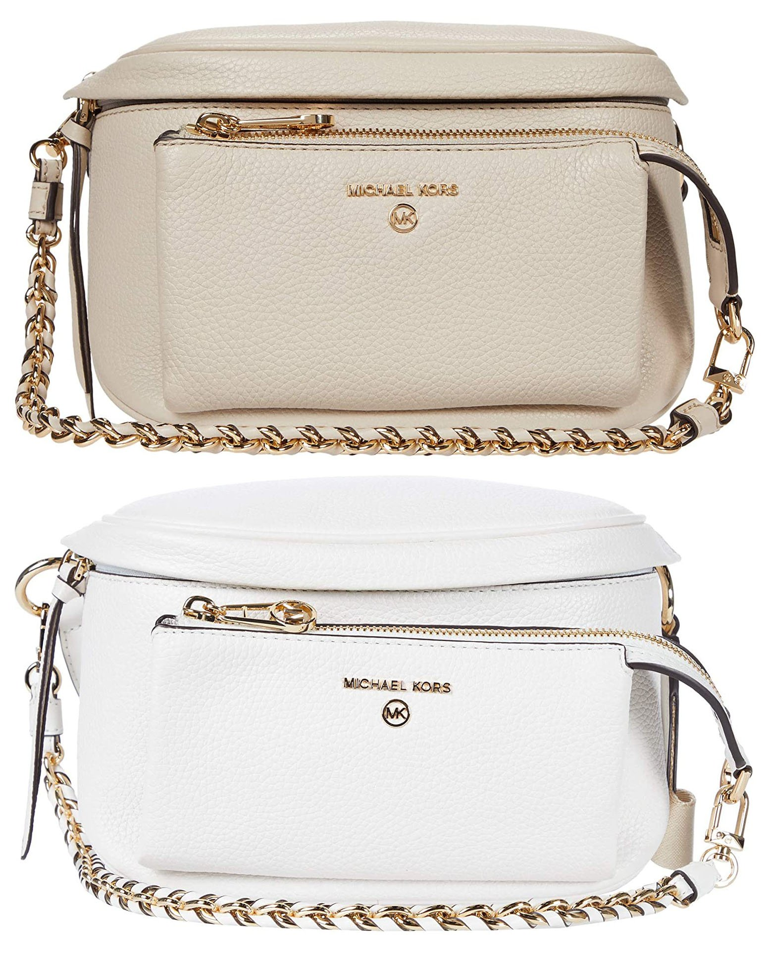 You can wear the Michael Kors' Slater sling pack around the waist, over the shoulder or across the body