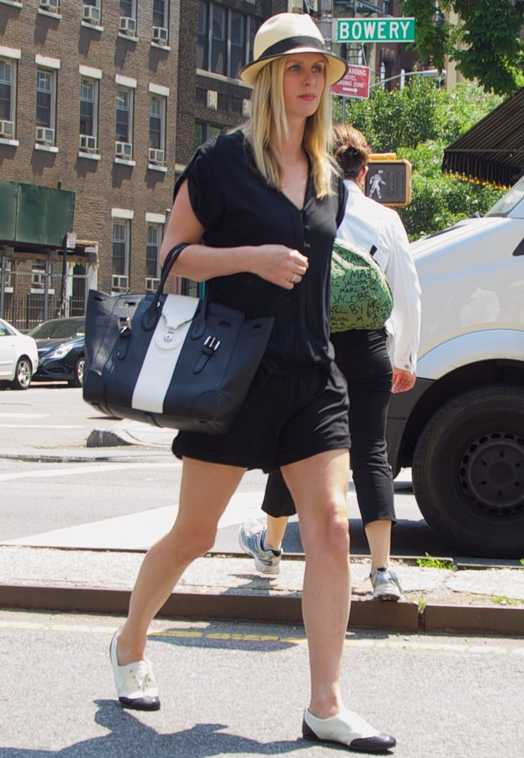 Nicky Hilton totes Ralph Lauren's Ricky bag in the East Village in New York City