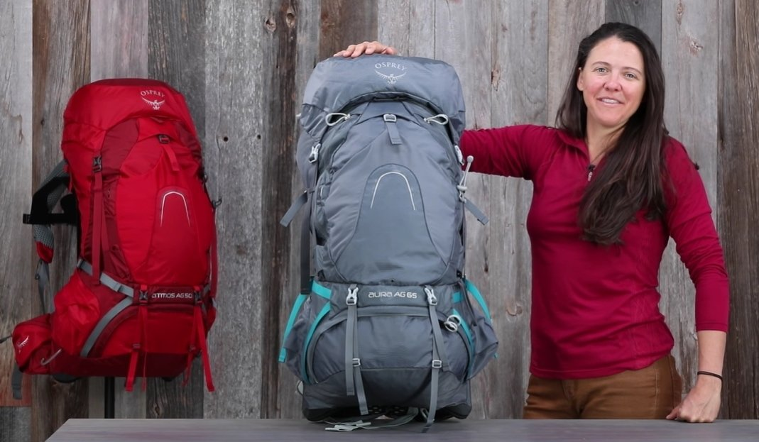The Atmos AG backpacks are designed for traditional backpacking trips up to a week or more in duration
