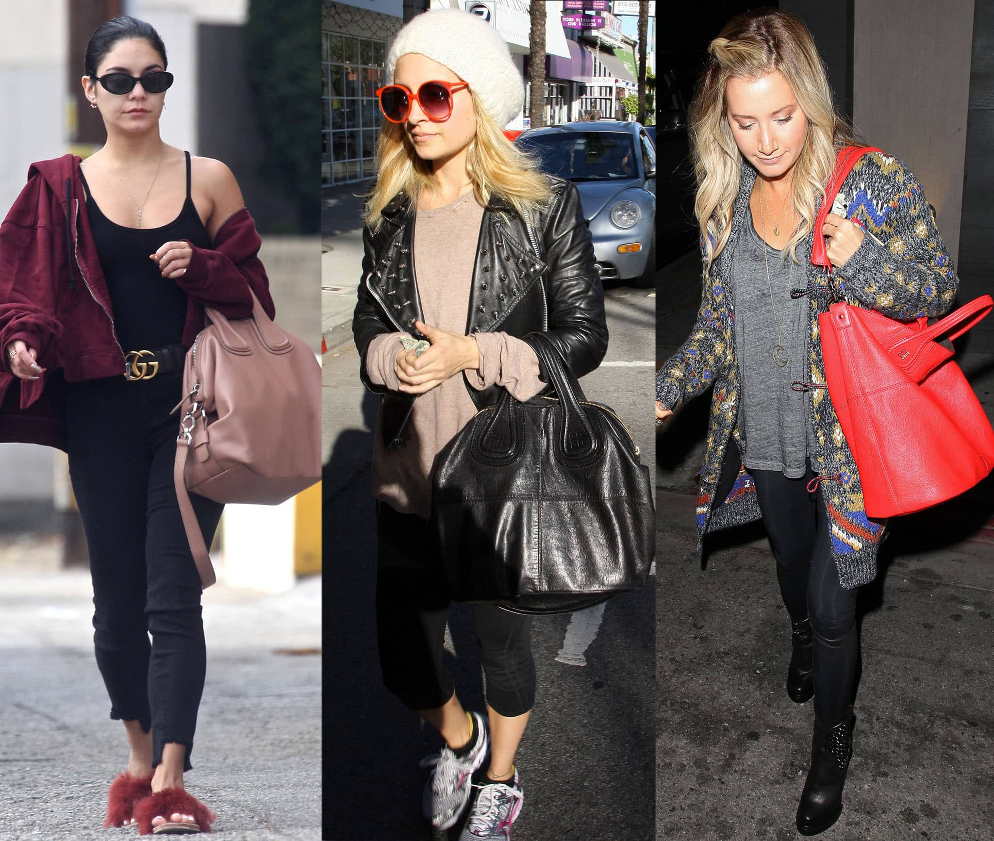 Vanessa Hudgens, Nicole Richie, and Ashley Tisdale toting Givenchy's Nightingale bag