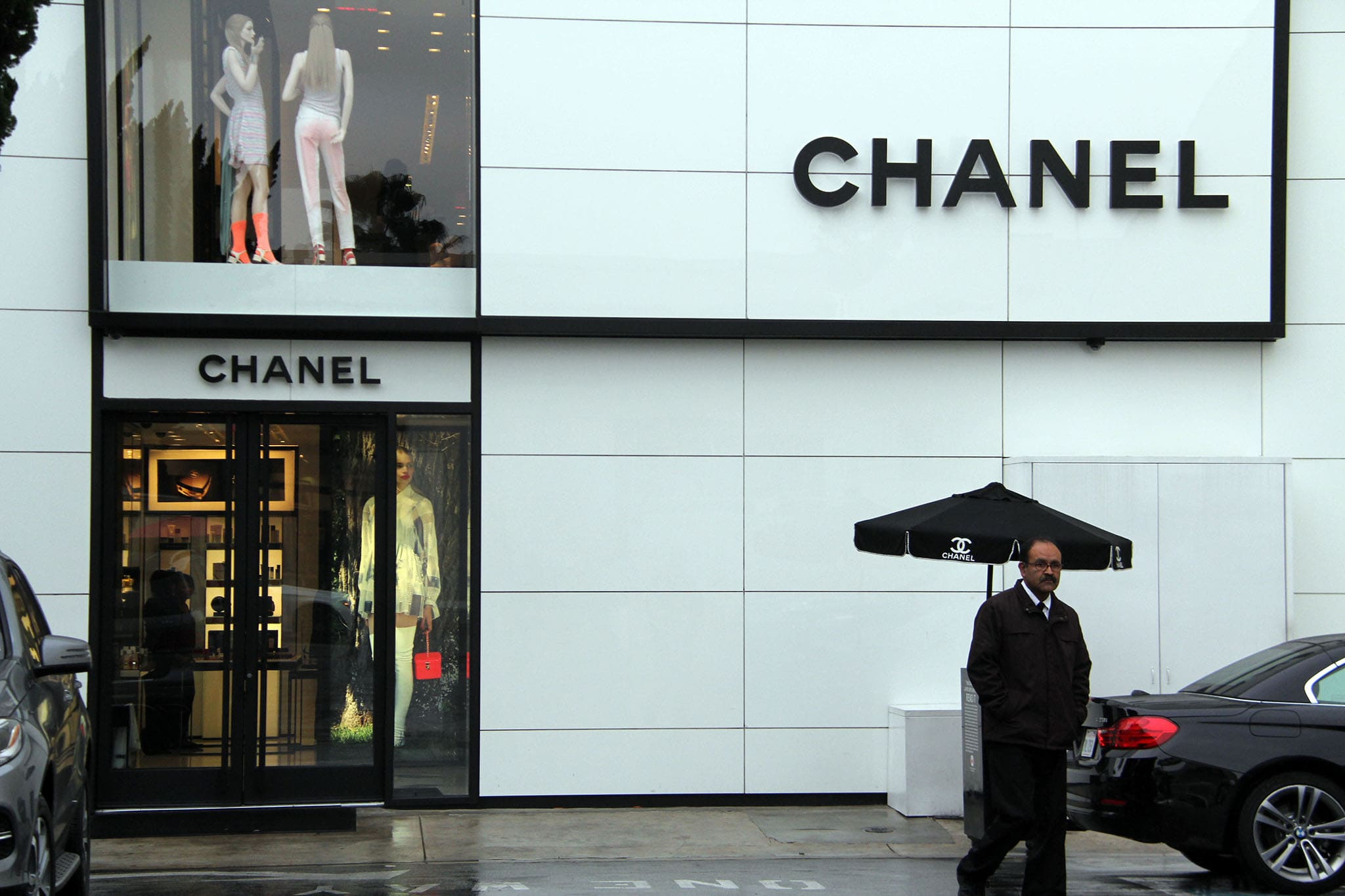 A Chanel stand-alone store in Los Angeles