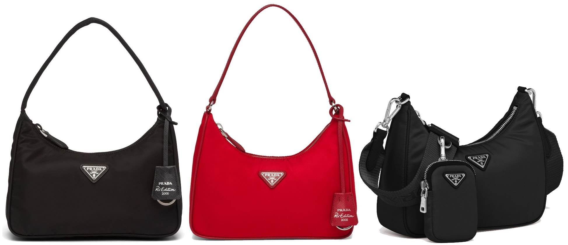 Prada re-released some of its most popular and iconic bags from 2000, 2005, and 2006