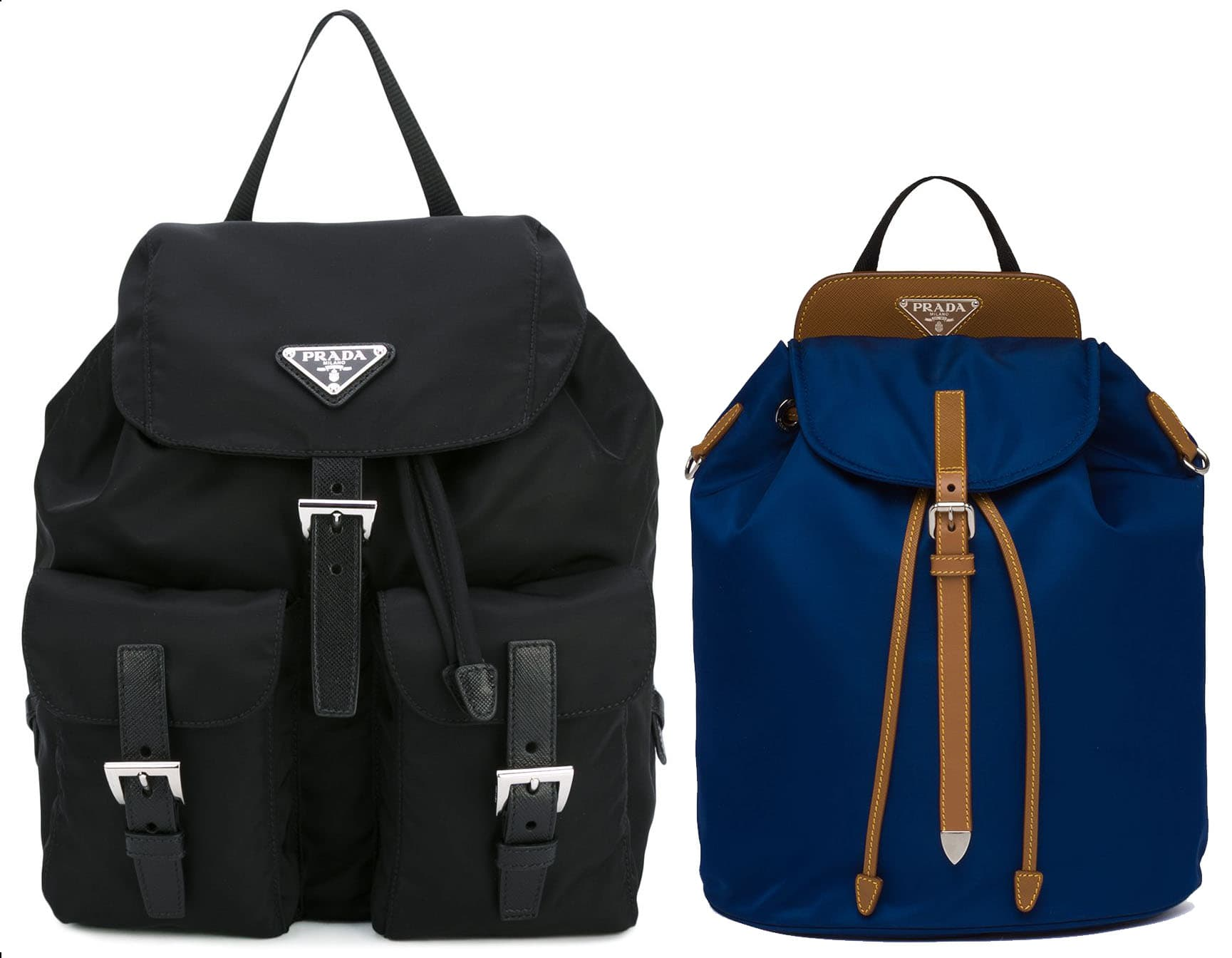 Prada's nylon backpacks are not only chic but also durable and water-resistant