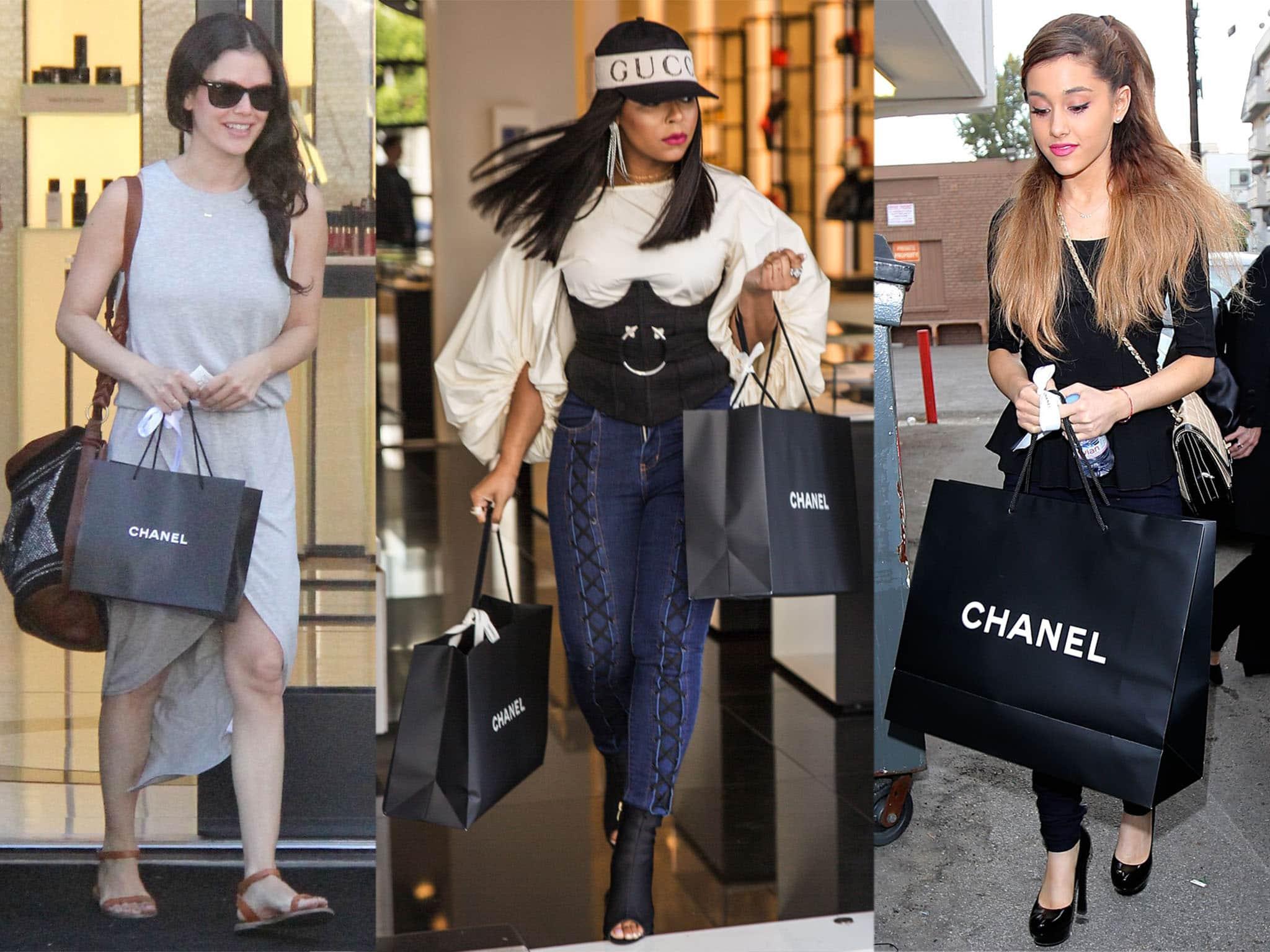 Rachel Bilson, Ashanti, and Ariana Grande shopping at Chanel stores in Los Angeles