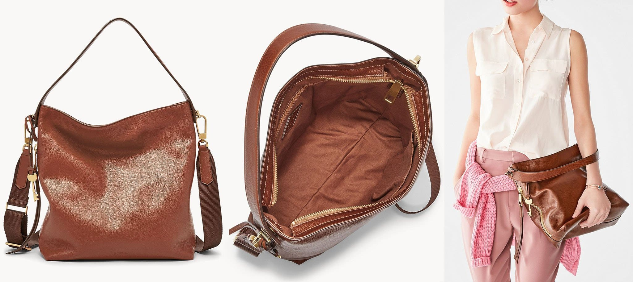 Fossil's bestseller is sturdy and spacious enough for your laptop or iPad