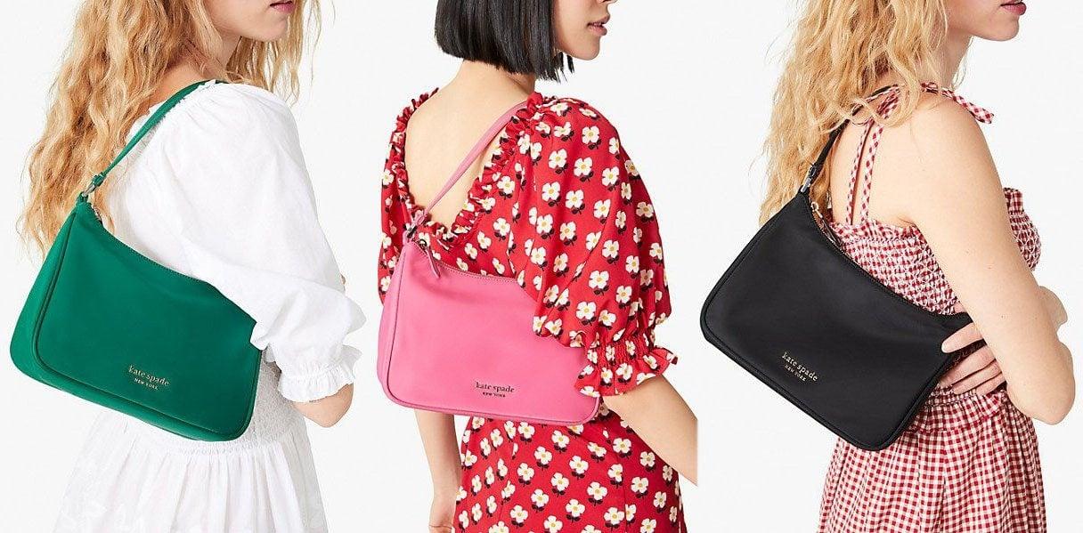 Kate Spade's Little Better Sam is a cheaper alternative to Prada's nylon shoulder bag