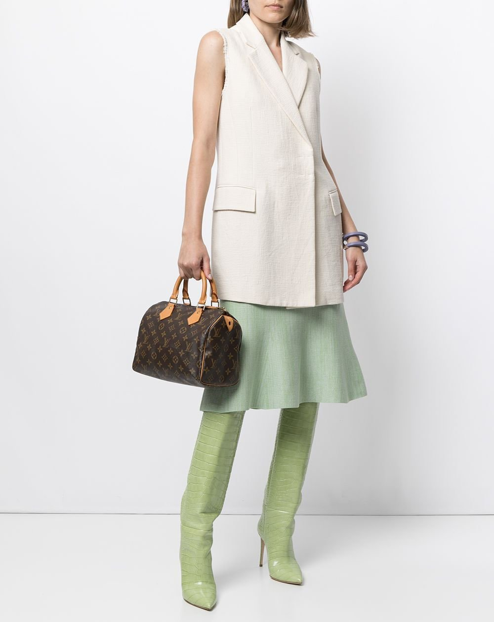 The Louis Vuitton Speedy is one of the luxury brand's most purchased bags, featuring the classic monogram canvas