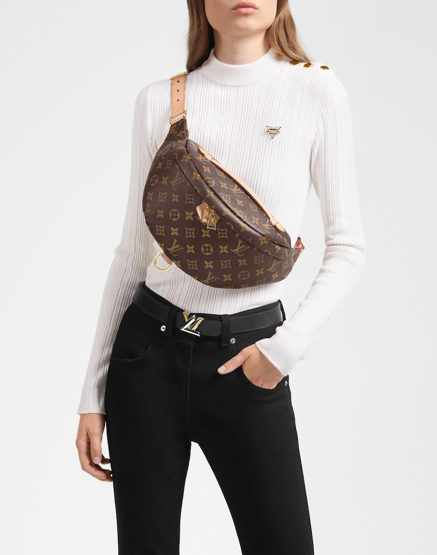 Elevate your street-chic wear with Louis Vuitton's monogrammed canvas Bumbag