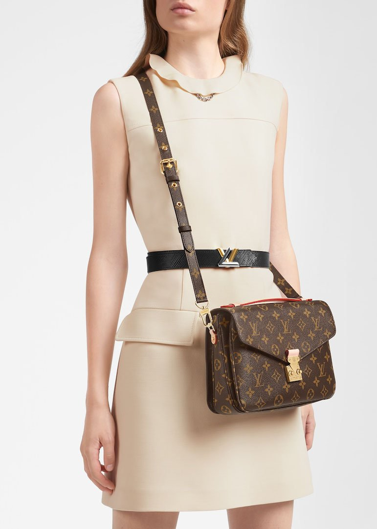 A compact schoolbag-like satchel with the classic LV monogram and gold-tone hardware